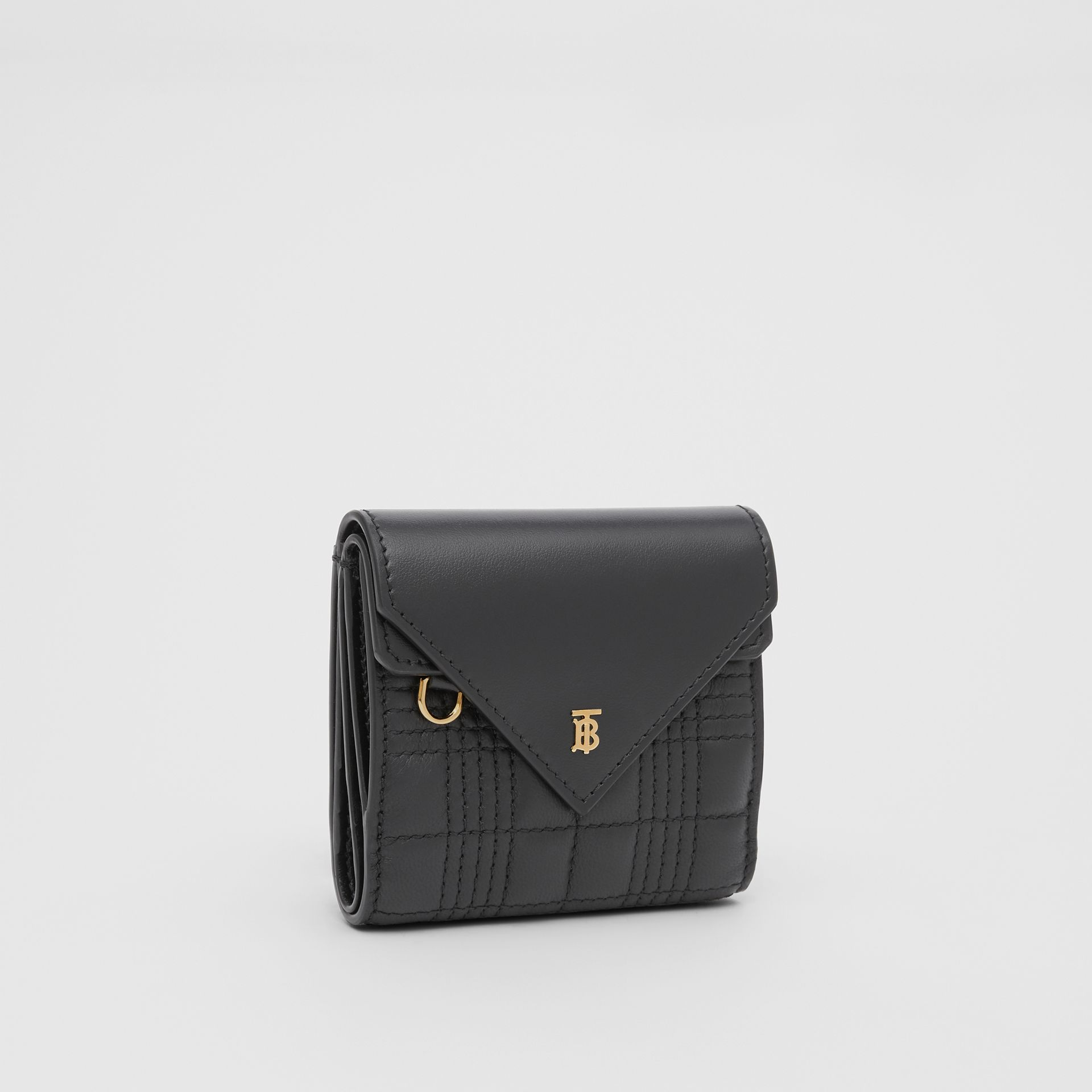 Quilted Lambskin Folding Wallet in Black - Women | Burberry Hong Kong S.A.R - gallery image 3