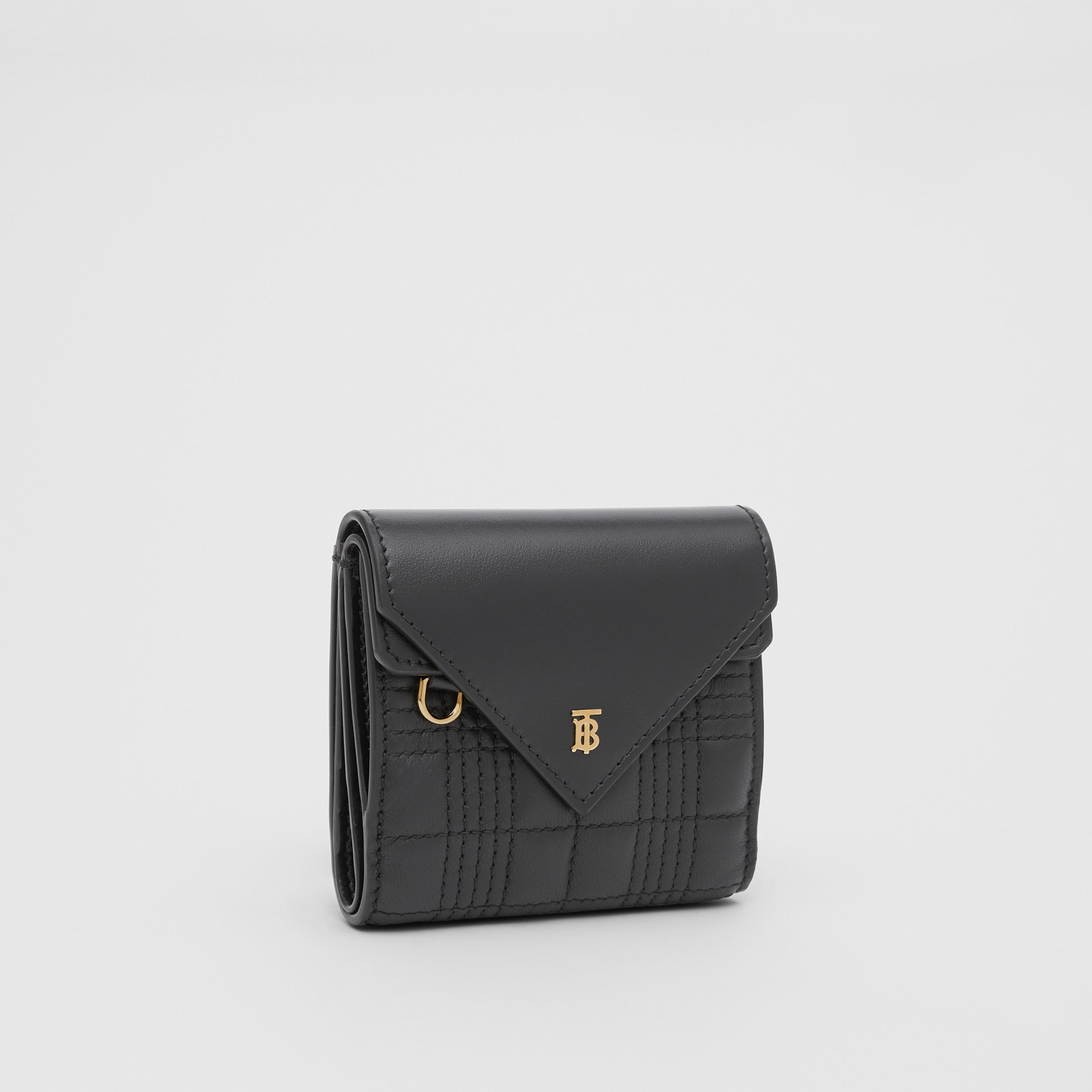Quilted Lambskin Folding Wallet in Black - Women | Burberry - 4