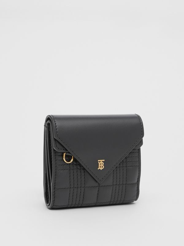Quilted Lambskin Folding Wallet in Black - Women | Burberry Hong Kong S.A.R - cell image 3