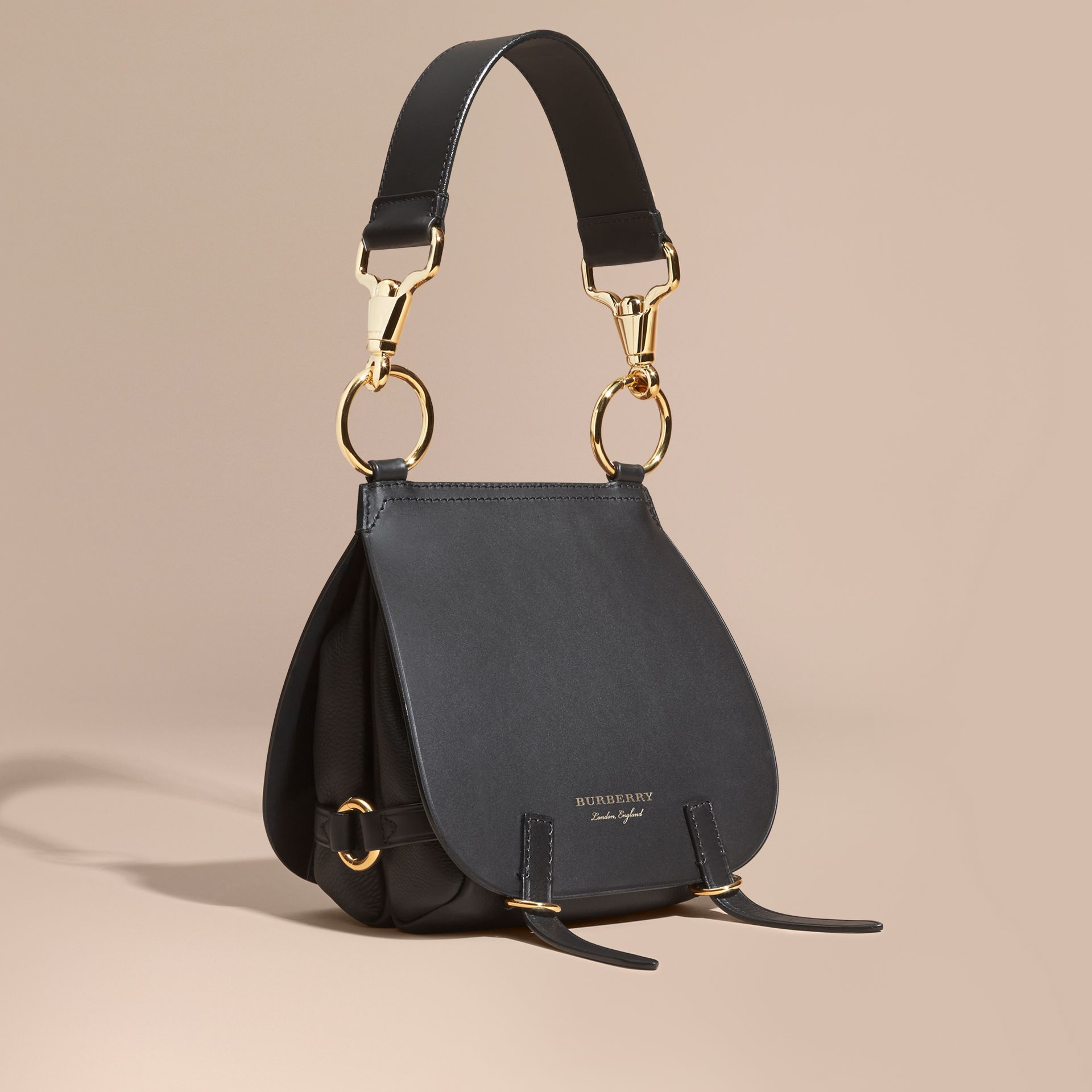 The Bridle Bag in Leather in Black - Women | Burberry Singapore - gallery image 1