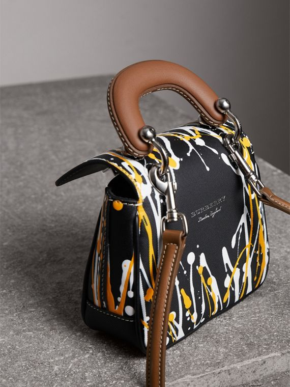 The Mini DK88 Splash Top Handle Bag in Black - Women | Burberry - cell image 2