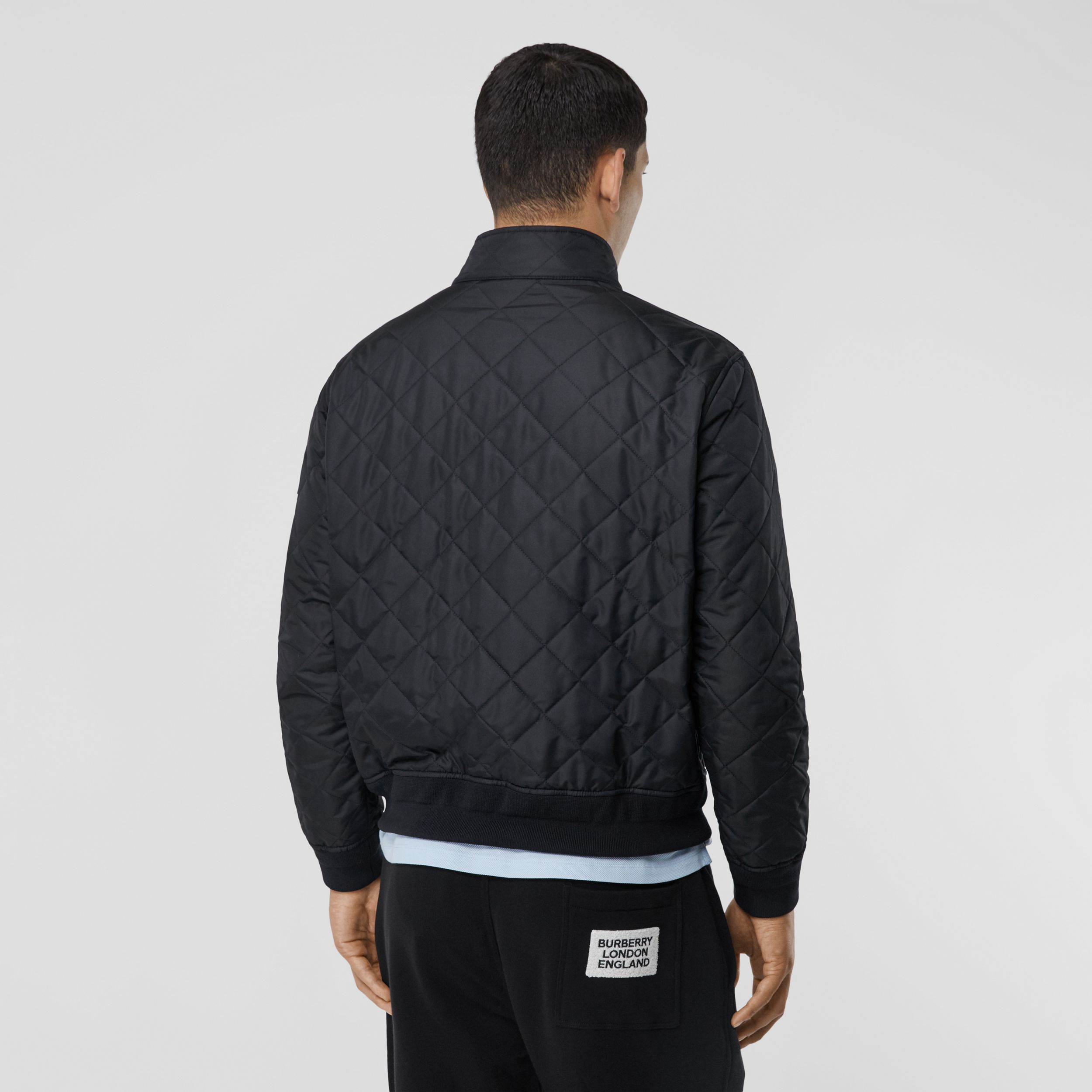 Diamond Quilted Thermoregulated Jacket in Navy - Men | Burberry - 3