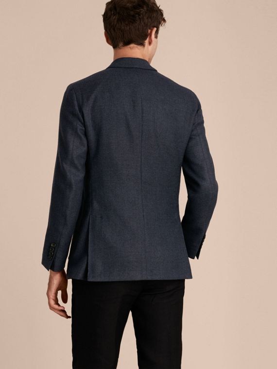 Storm blue Modern Fit Wool Cashmere Hopsack Tailored Jacket - cell image 2