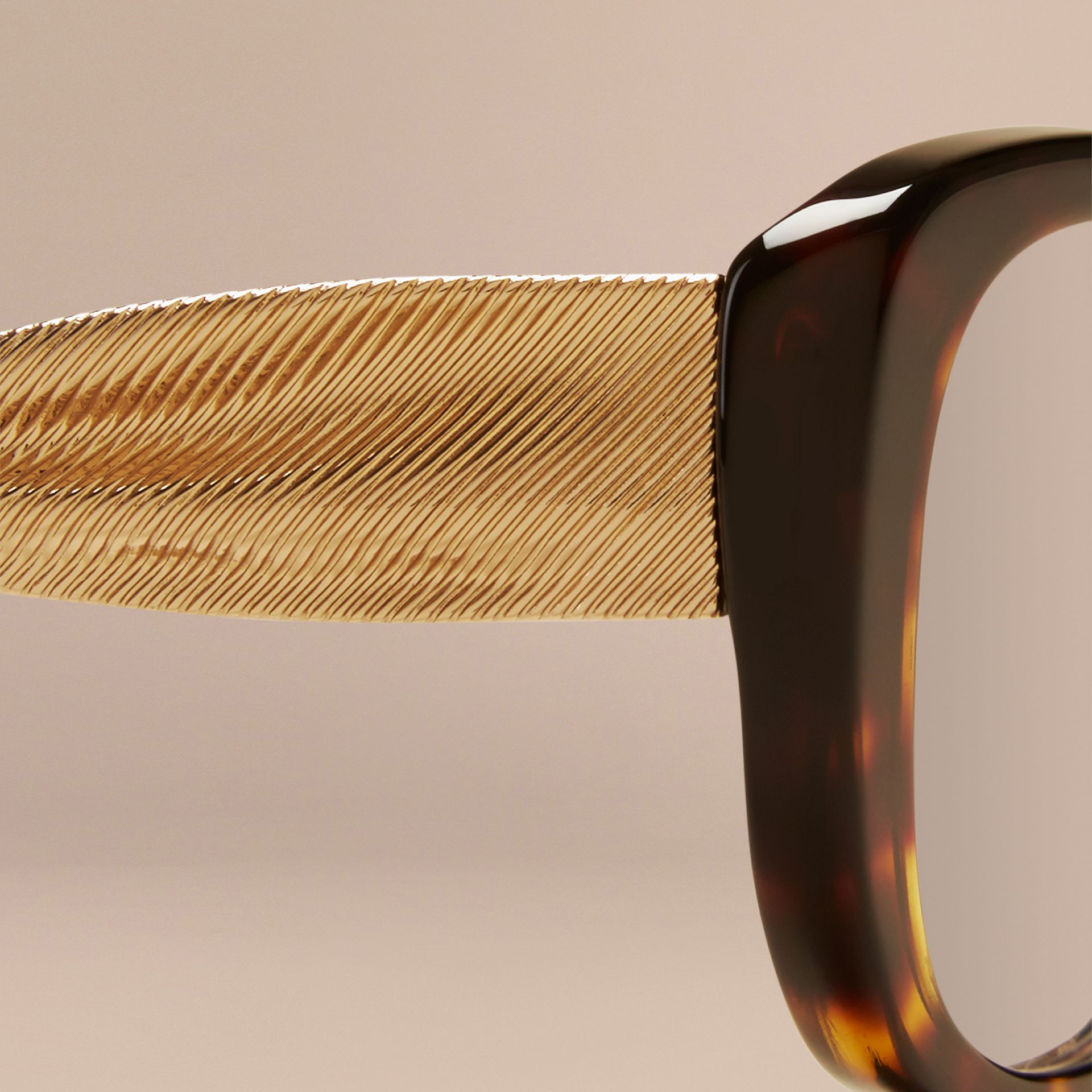 Gabardine Collection Oval Optical Frames in Tortoise Shell - gallery image 2