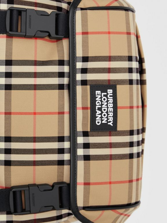 Logo Detail Vintage Check Backpack in Archive Beige | Burberry - cell image 1
