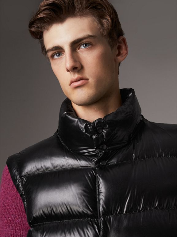 Detachable Hood Down-filled Gilet in Black - Men | Burberry - cell image 1