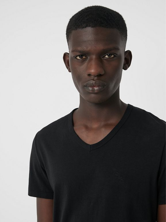 Cotton Jersey T-shirt in Black - Men | Burberry Canada - cell image 1
