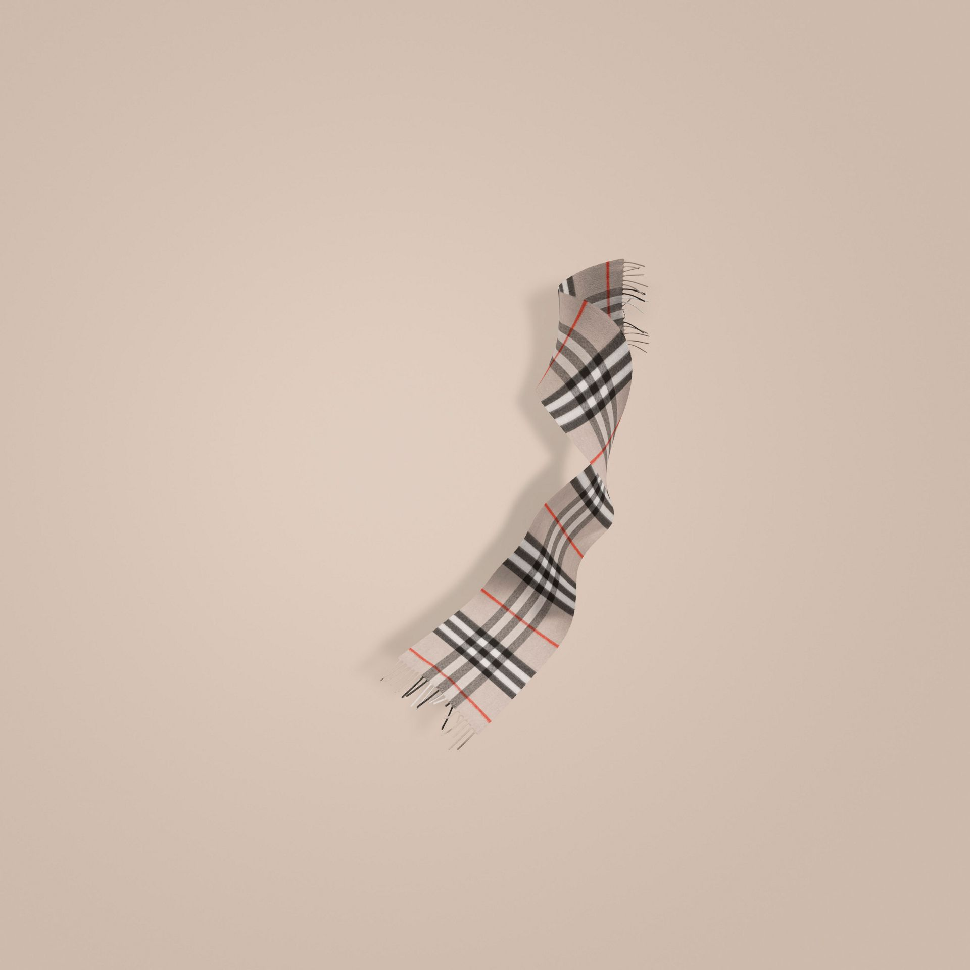 Stone The Classic Cashmere Scarf in Heritage Check - gallery image 1