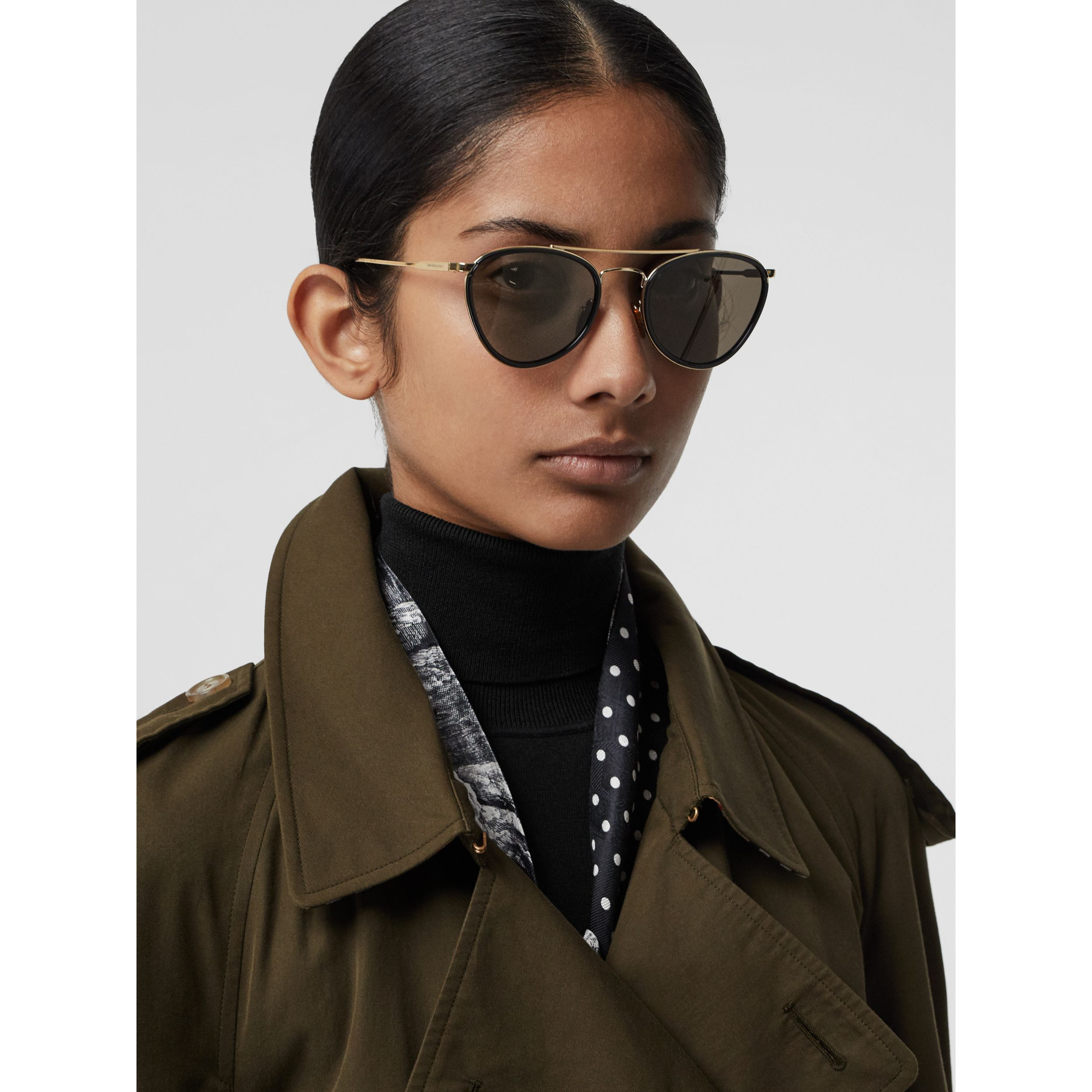 Pilot Sunglasses in Black - Women | Burberry - 3