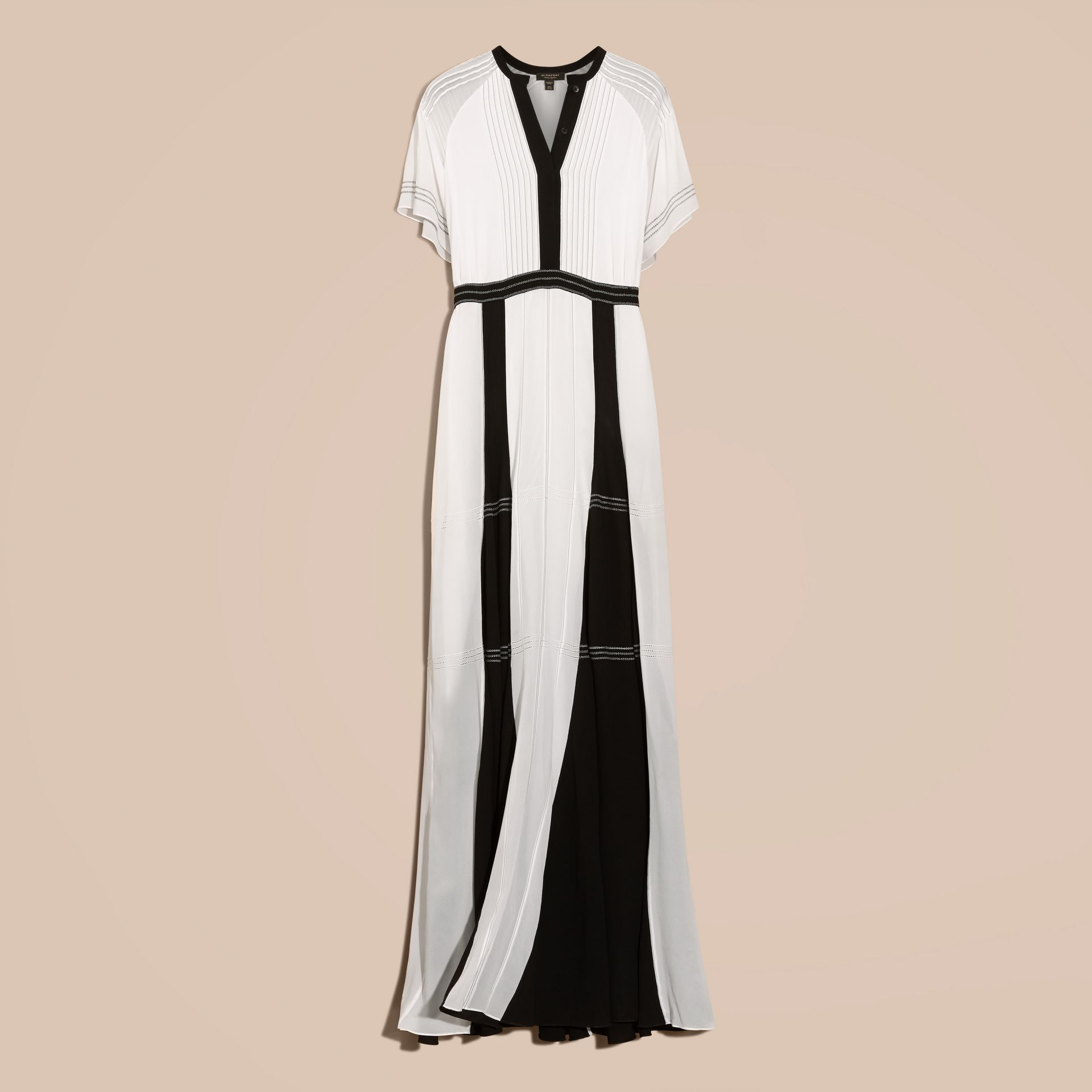 White Floor-Length Silk Dress - gallery image 4