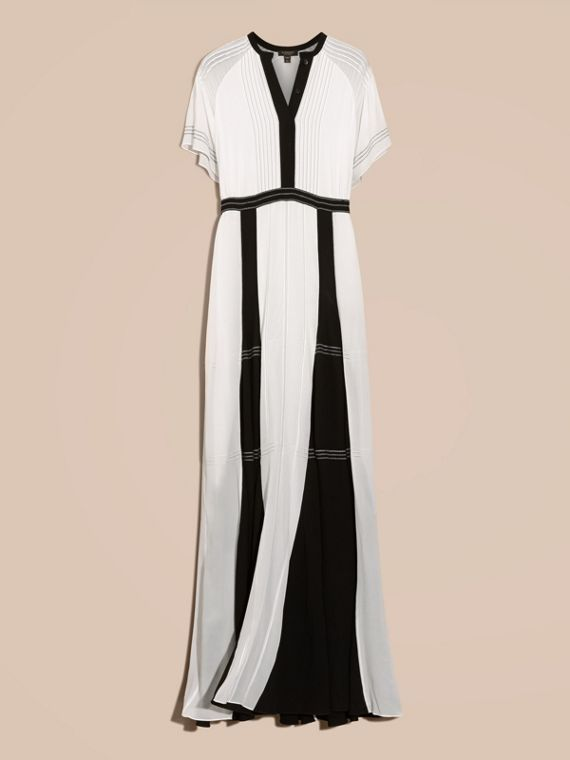 White Floor-Length Silk Dress - cell image 3