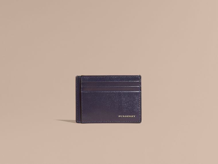 London Leather Card Case in Dark Navy | Burberry - cell image 1