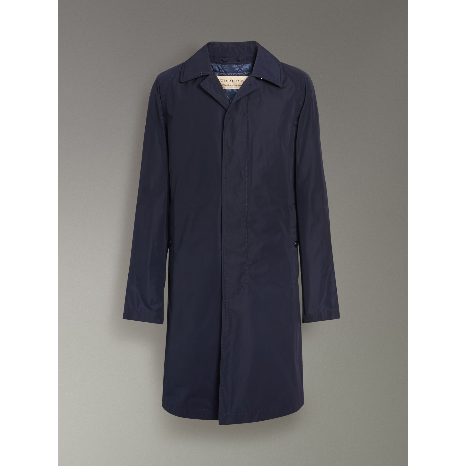 Shape-memory Taffeta Car Coat with Warmer in Navy - Men | Burberry Singapore - gallery image 3