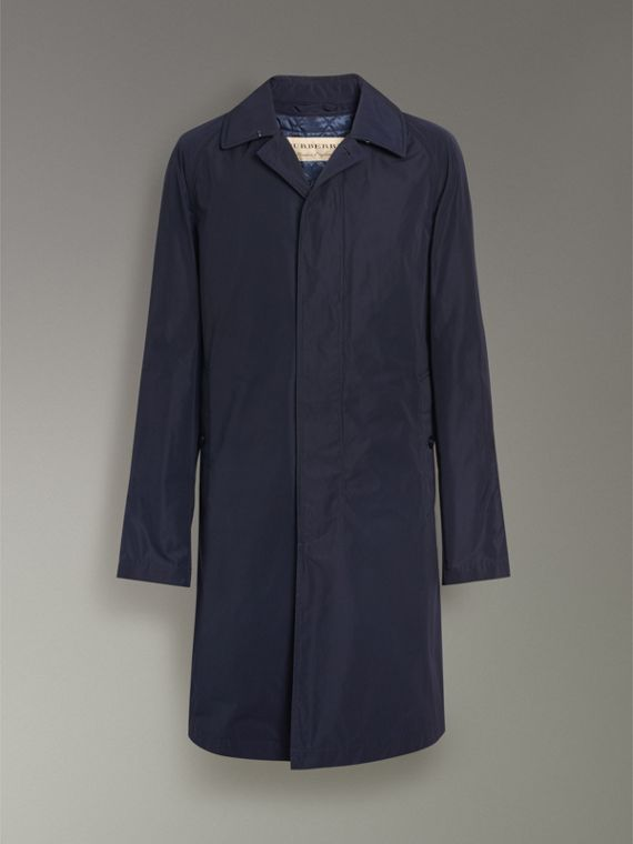 Shape-memory Taffeta Car Coat with Warmer in Navy - Men | Burberry Singapore - cell image 3