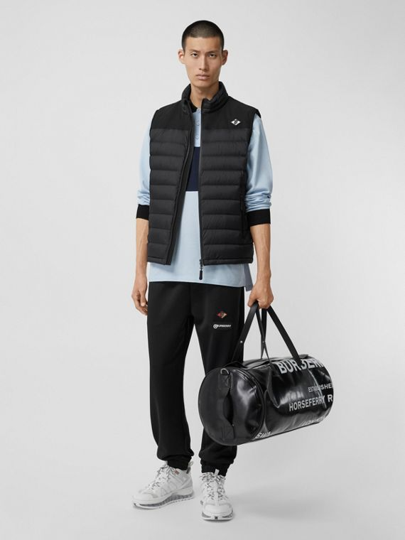 Logo Graphic Puffer Gilet in Black
