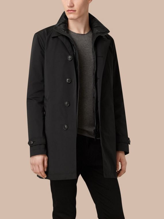 Lightweight Technical Car Coat with Down-filled Warmer