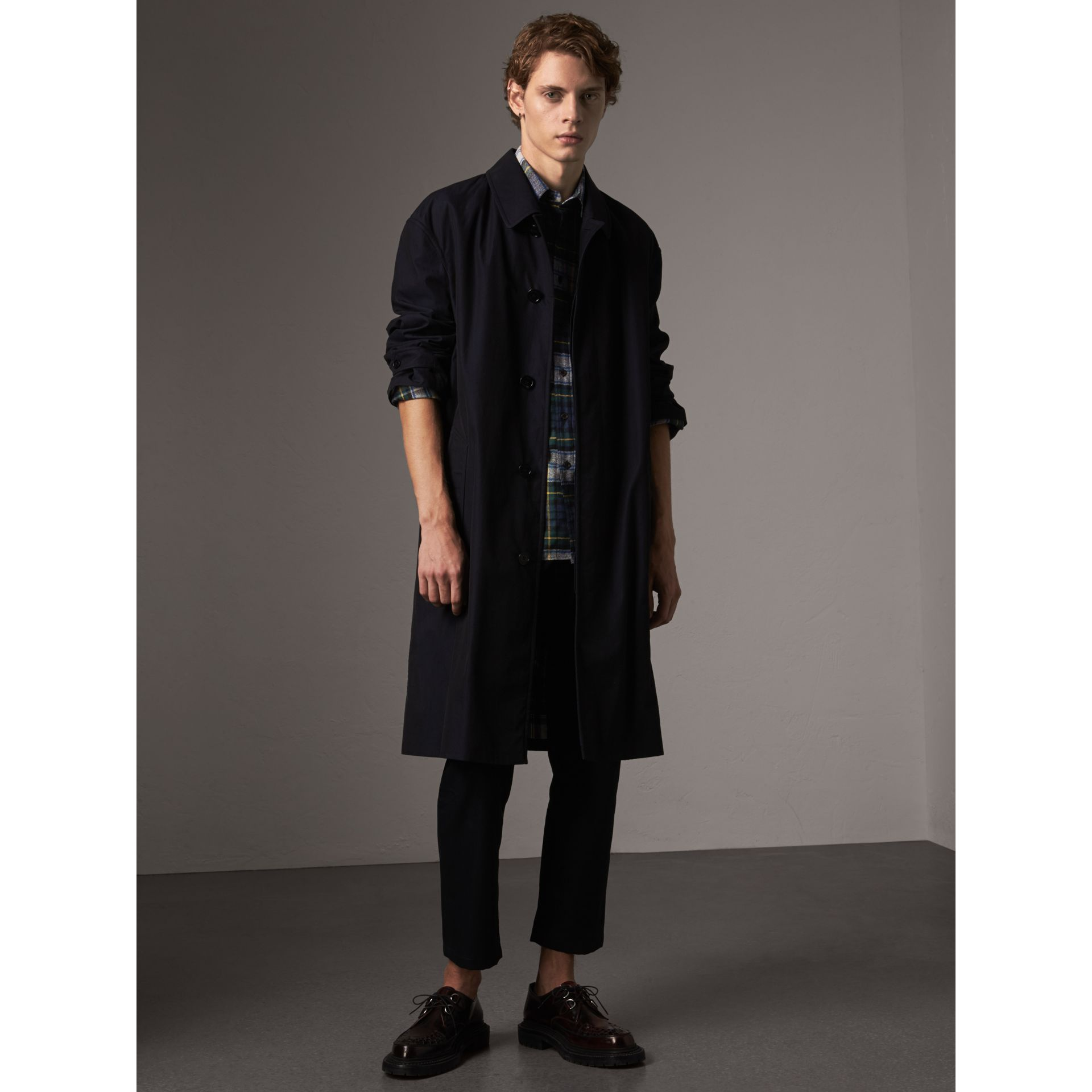 Tartan Wool Shirt in Ink Blue - Men | Burberry - gallery image 5