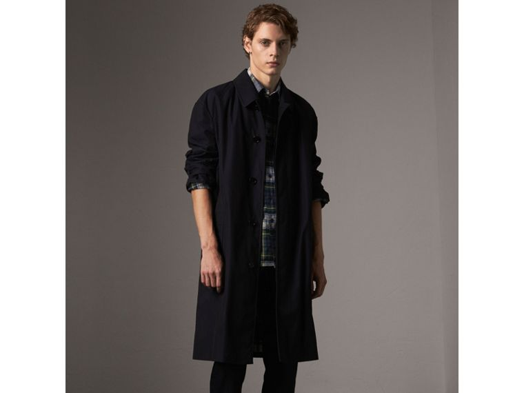 Tartan Wool Shirt in Ink Blue - Men | Burberry - cell image 4