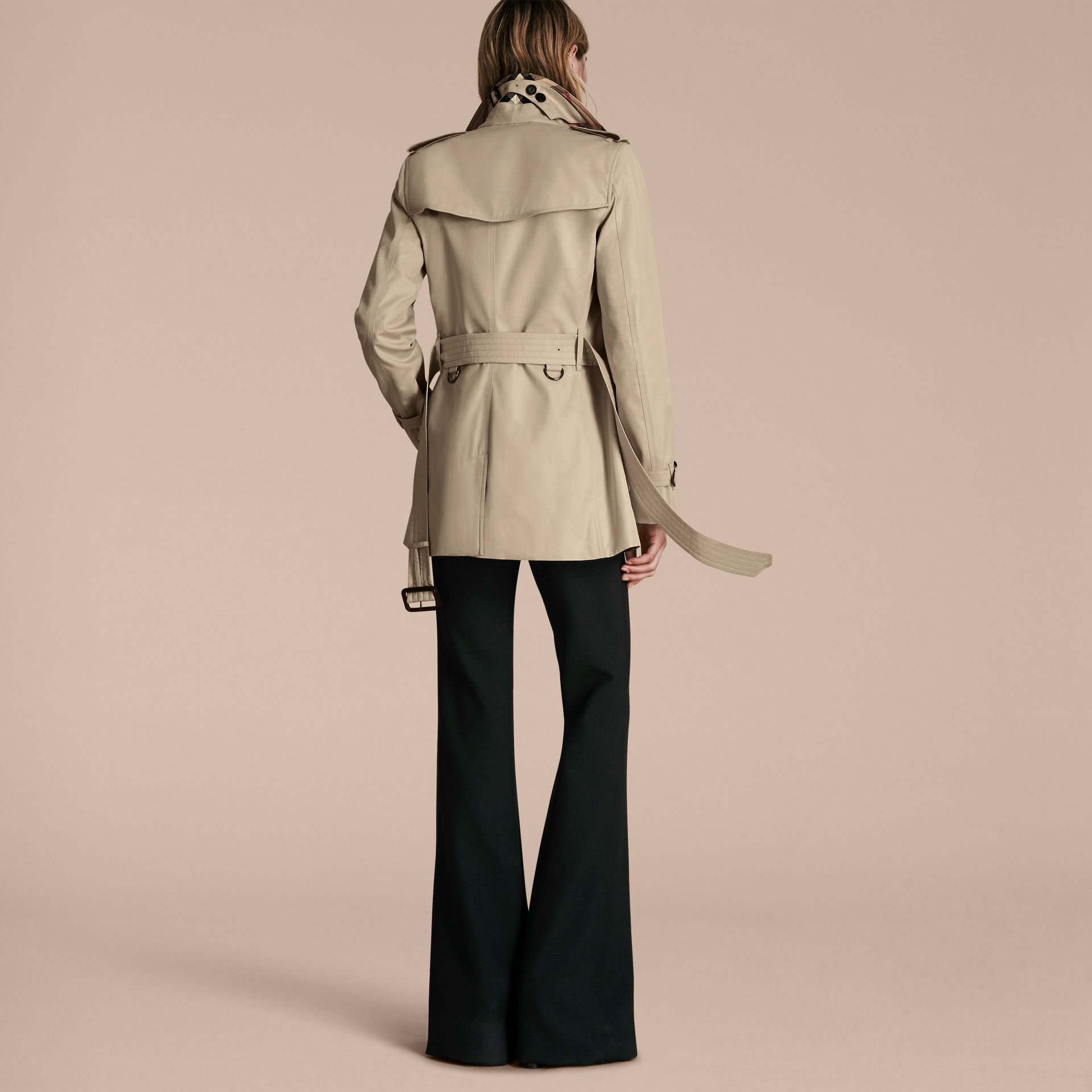 Stone The Kensington – Short Heritage Trench Coat Stone - gallery image 3