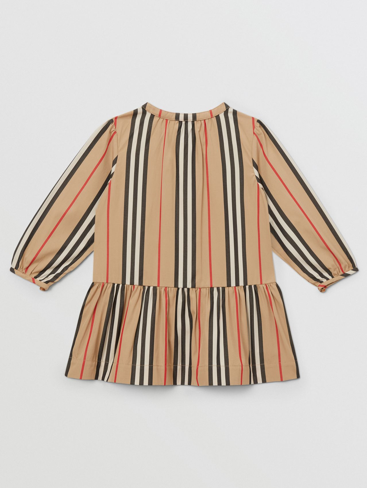 Icon Stripe Gathered Cotton Poplin Dress
