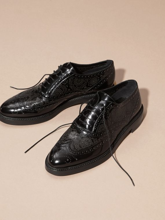 Black Leather Wingtip Brogues - cell image 3