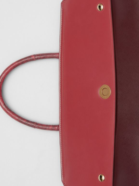 Medium Leather and Suede Elizabeth Bag in Crimson - Women | Burberry Australia - cell image 1