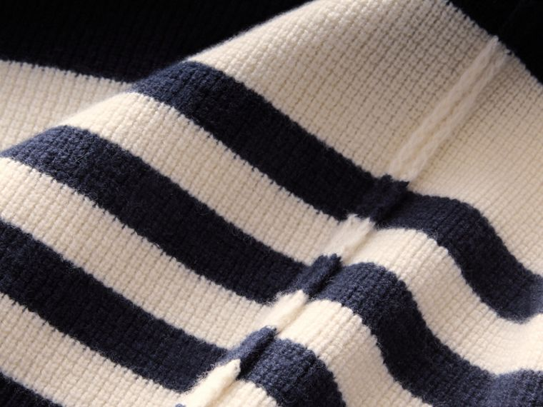 Striped Knitted Cashmere Roll-neck Sweater - Men | Burberry - cell image 1