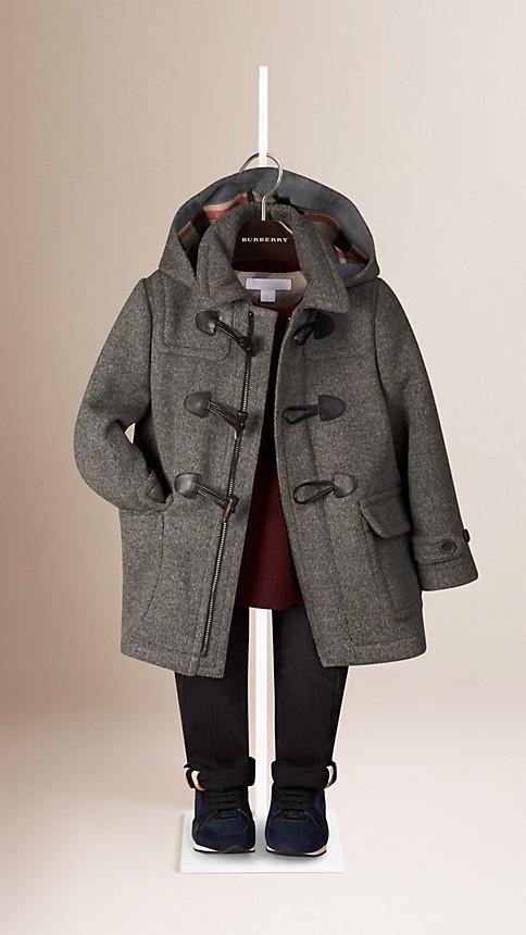 Gris moyen Duffle-coat en laine - Image 1