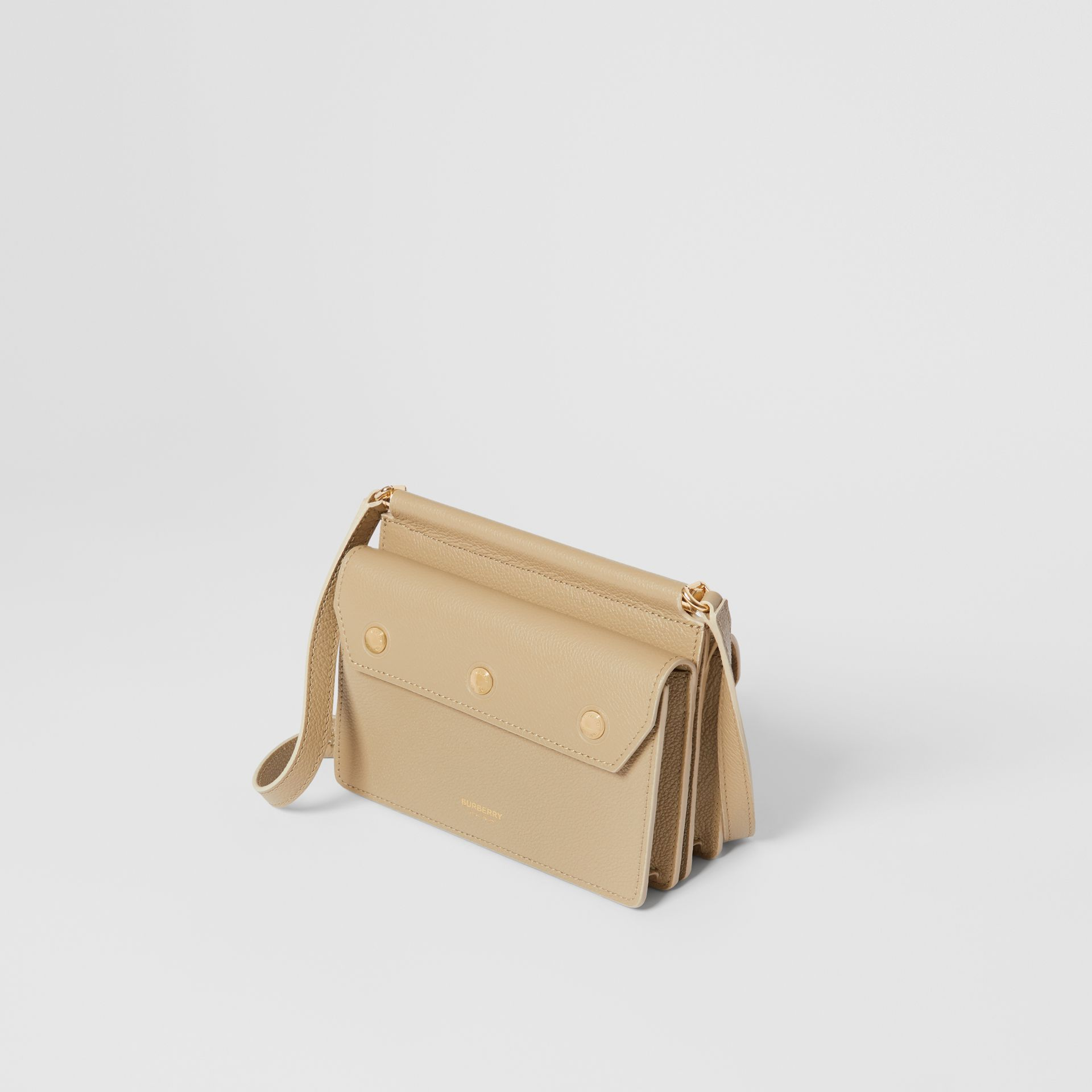Mini Leather Title Bag in Honey - Women   Burberry United States - gallery image 3