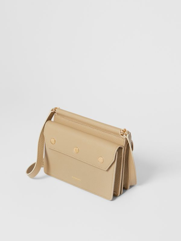 Mini Leather Title Bag in Honey - Women   Burberry United States - cell image 3