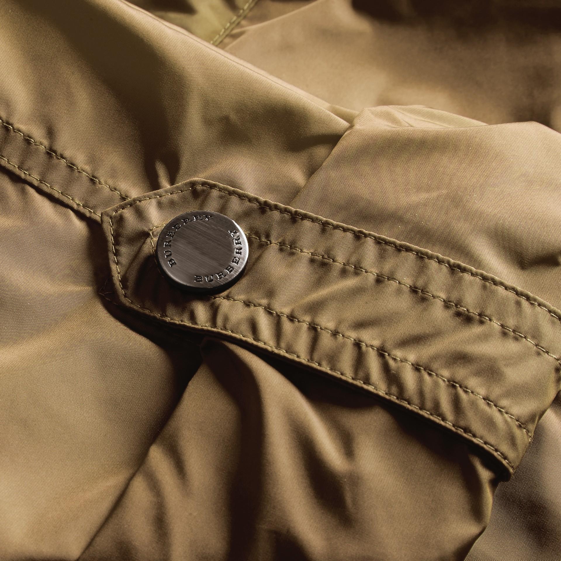 Showerproof Parka Jacket with Packaway Hood Sisal - gallery image 2