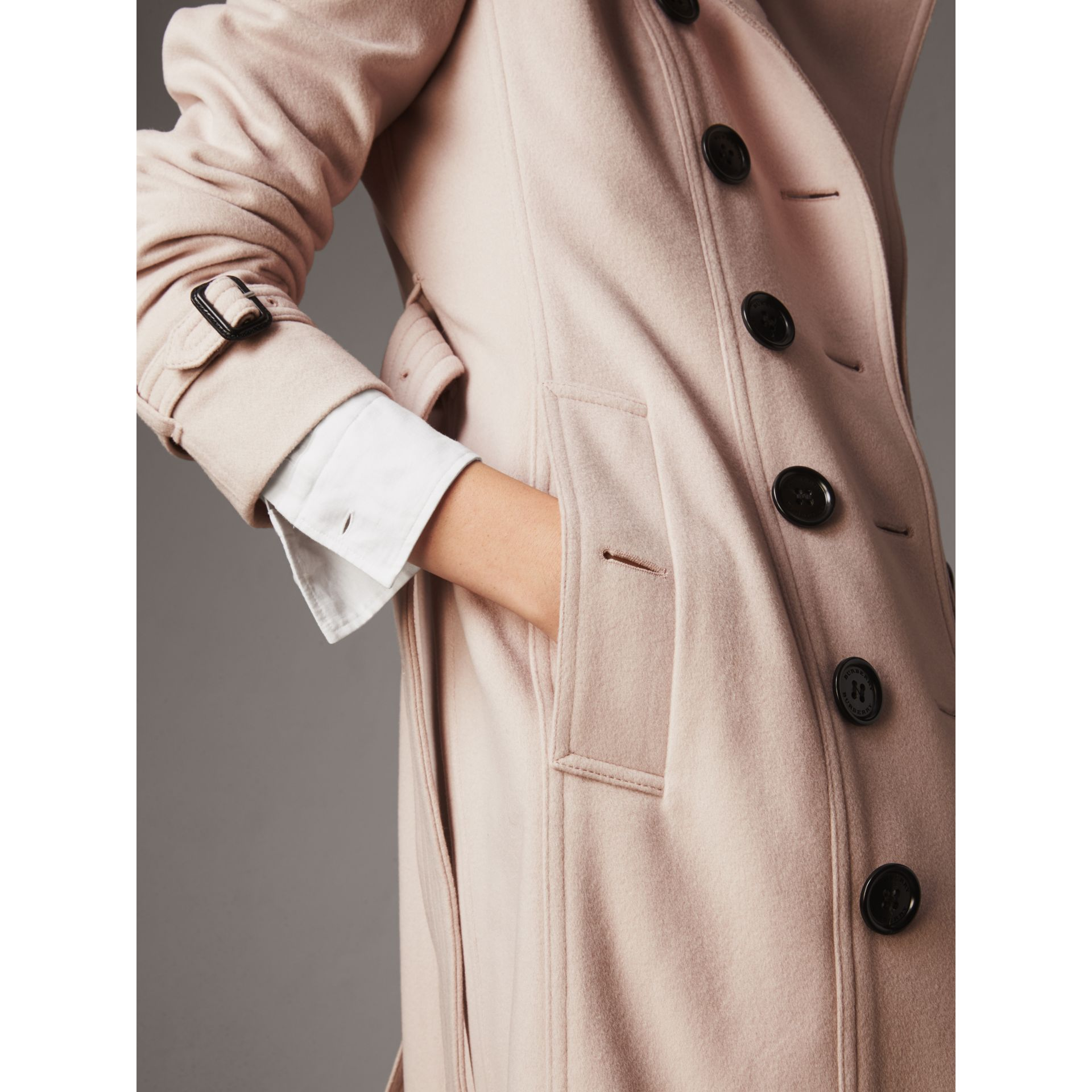 Sandringham Fit Cashmere Trench Coat in Pale Nude - Women | Burberry Singapore - gallery image 6