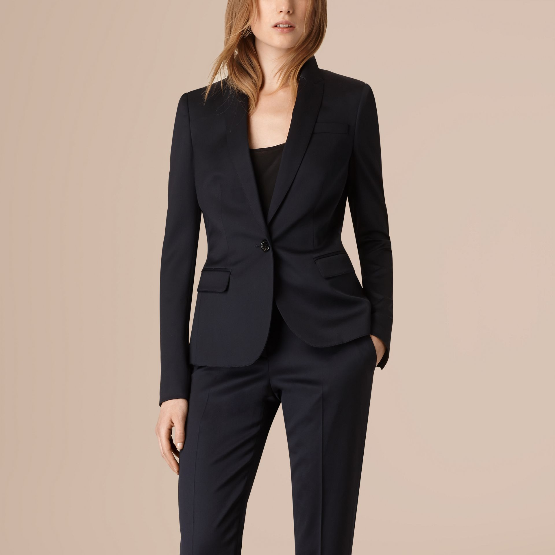 Ink Wool Blend Tuxedo Jacket - gallery image 3
