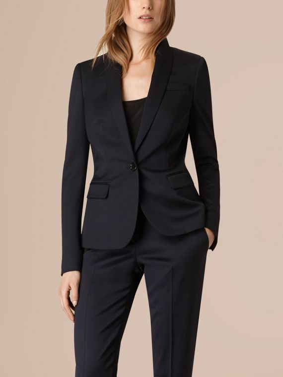 Ink Wool Blend Tuxedo Jacket - cell image 2