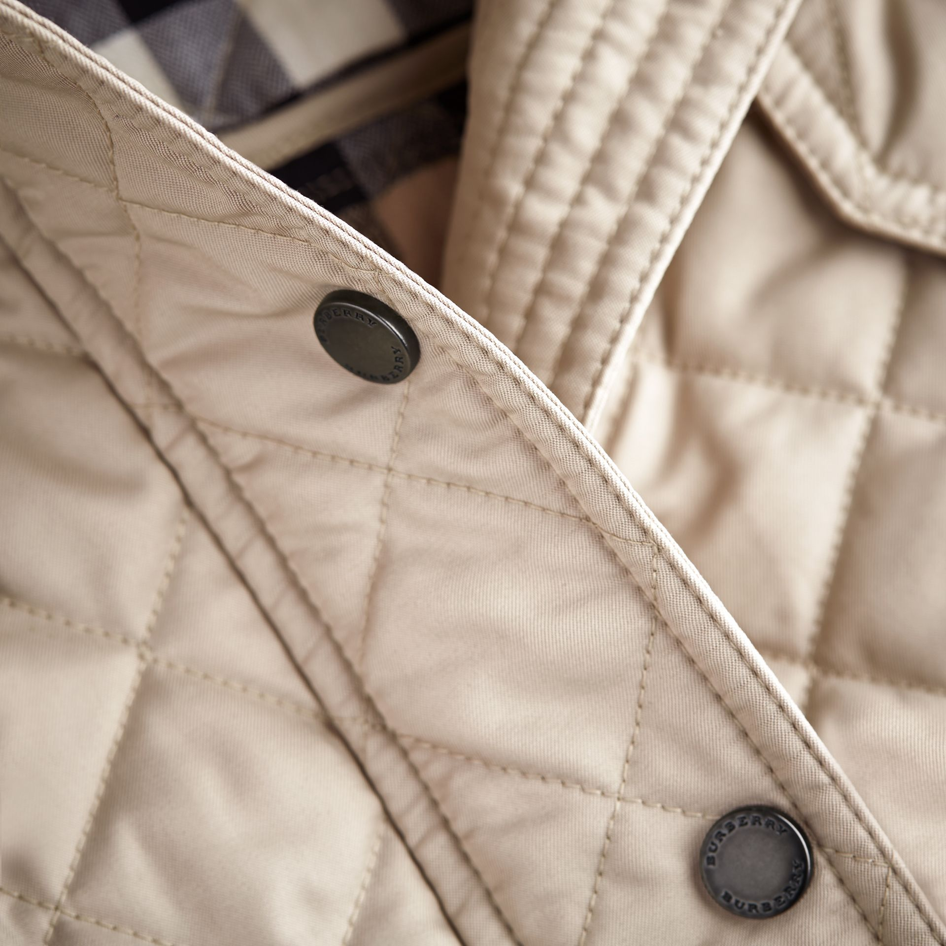 Quilted Field Jacket in Mink - Girl | Burberry - gallery image 2