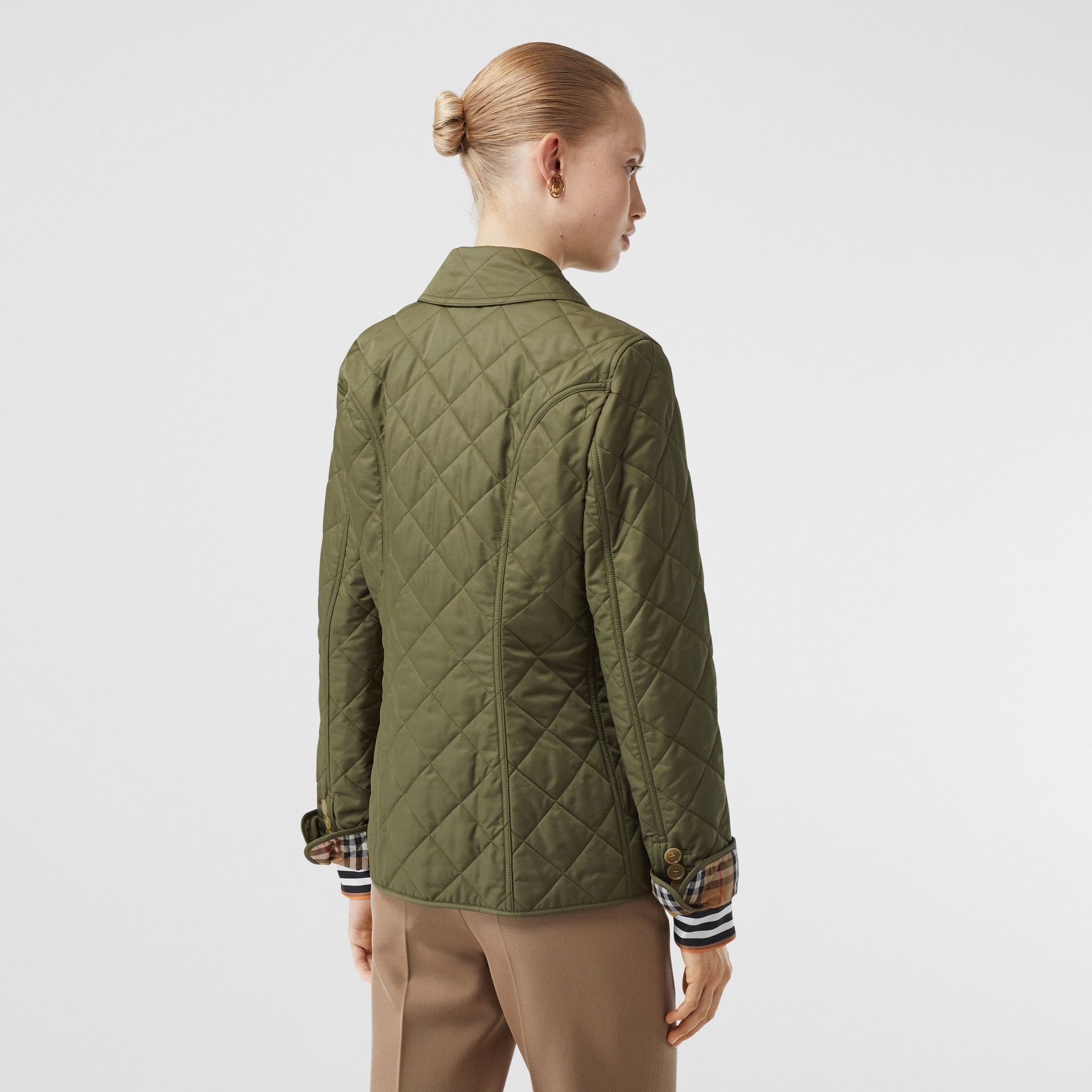 Diamond Quilted Jacket in Olive Green - Women | Burberry - gallery image 2