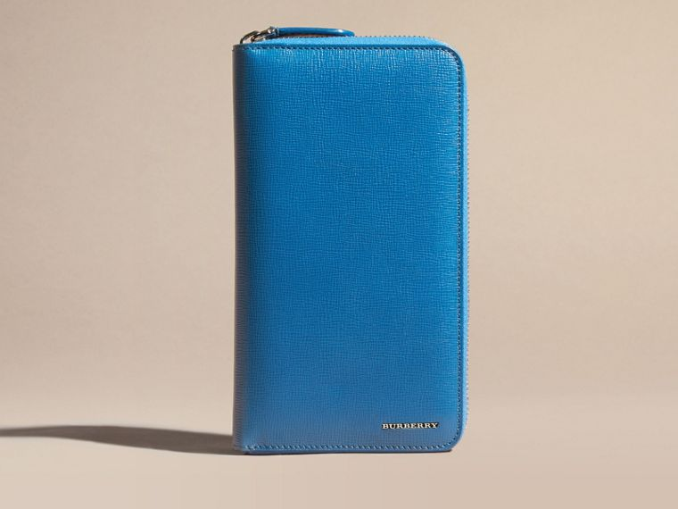 Mineral blue London Leather Ziparound Wallet Mineral Blue - cell image 1