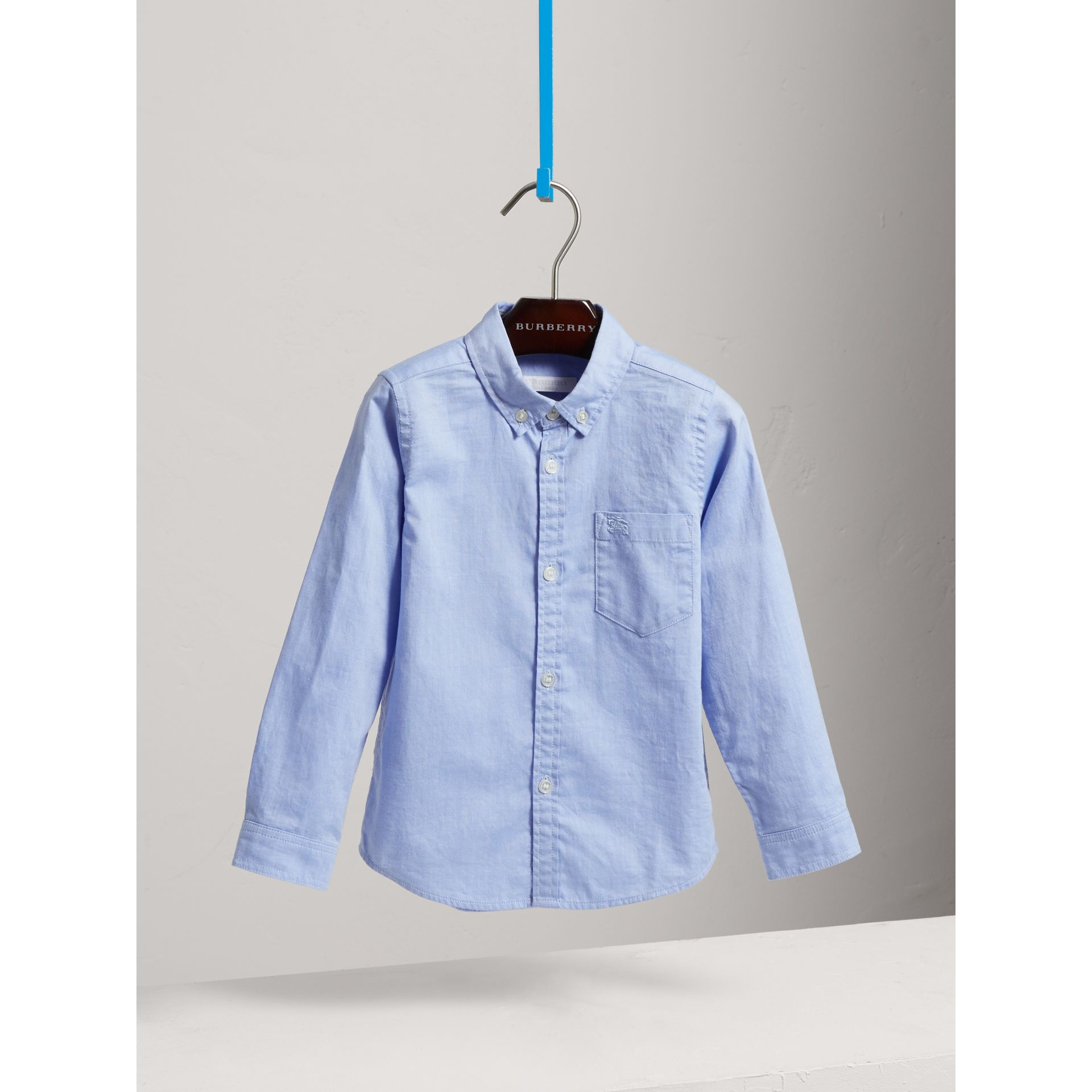 Classic Oxford Shirt in Cornflower Blue - Boy | Burberry - gallery image 0