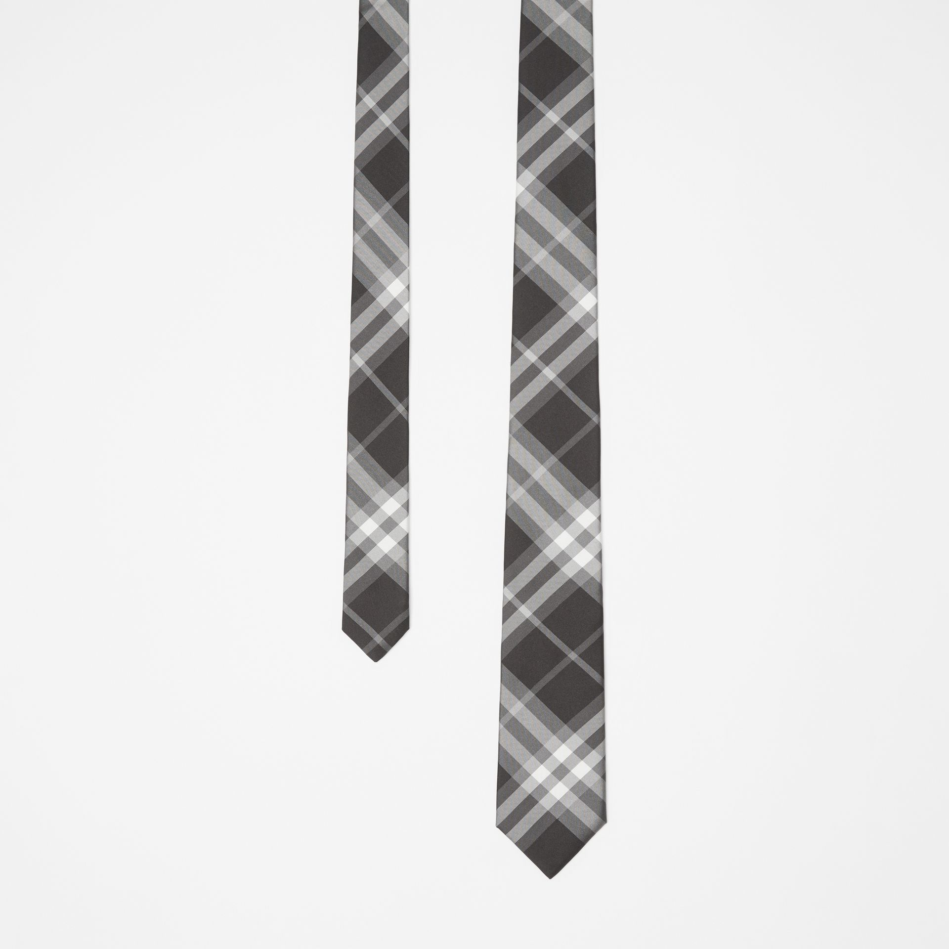 Modern Cut Vintage Check Silk Tie in Black - Men | Burberry Singapore - gallery image 0