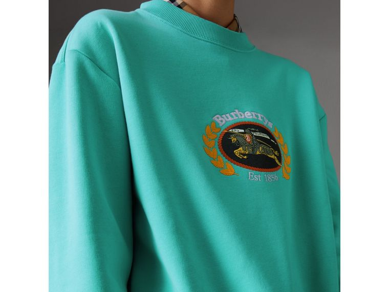 Reissued Jersey Sweatshirt in Aqua - Women | Burberry United Kingdom - cell image 1