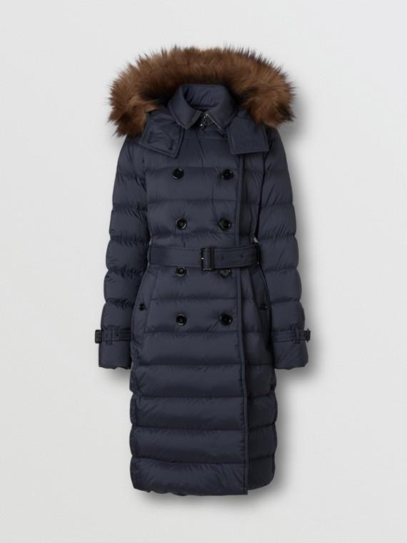 Manteau rembourré en duvet avec capuche amovible (Marine)
