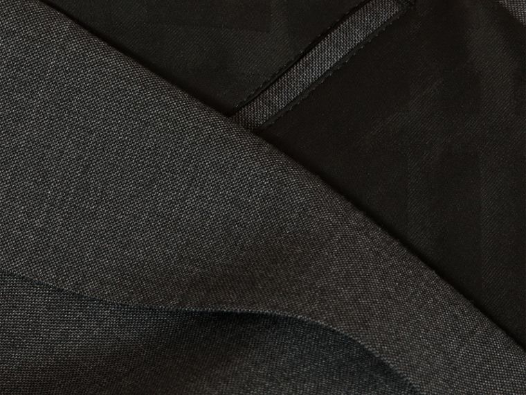 Dark grey melange Modern Fit Travel Tailoring Virgin Wool Suit - cell image 1