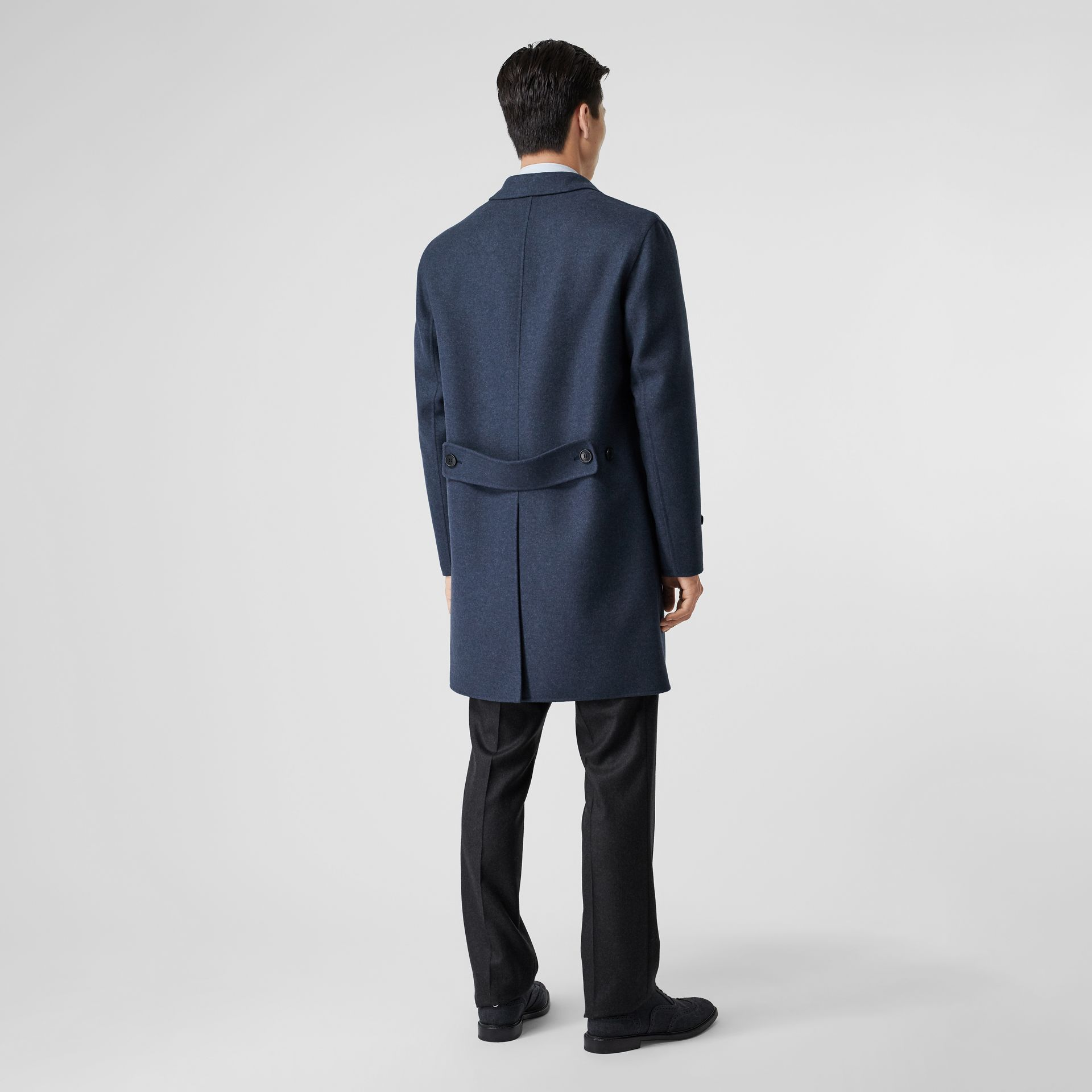 Wool Cashmere Lab Coat in Steel Blue Melange - Men | Burberry United Kingdom - gallery image 2