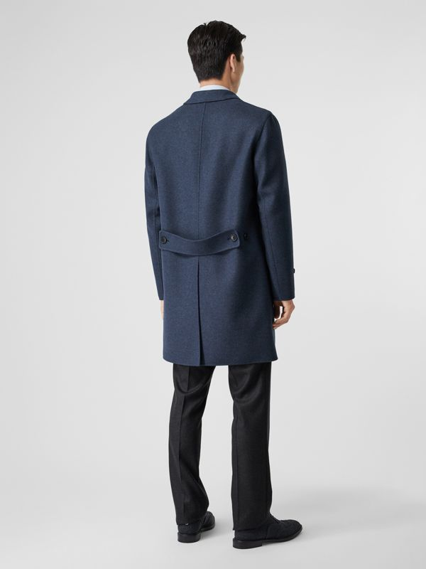Wool Cashmere Lab Coat in Steel Blue Melange - Men | Burberry United Kingdom - cell image 2