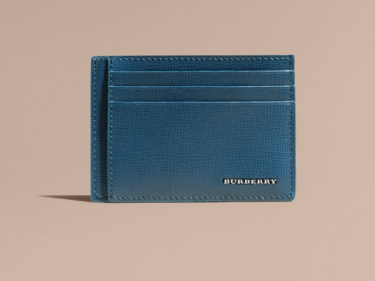 London Leather Card Case in Mineral Blue - cell image 1