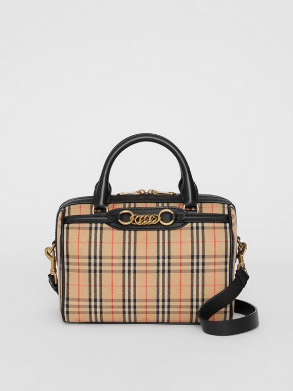 The Small 1983 Check Link Bowling Bag in Black
