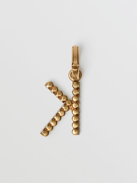 Crystal 'K' Alphabet Charm - Women | Burberry - cell image 1