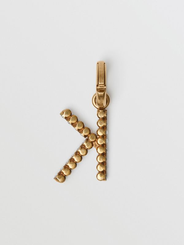 Crystal 'K' Alphabet Charm - Women | Burberry United Kingdom - cell image 3