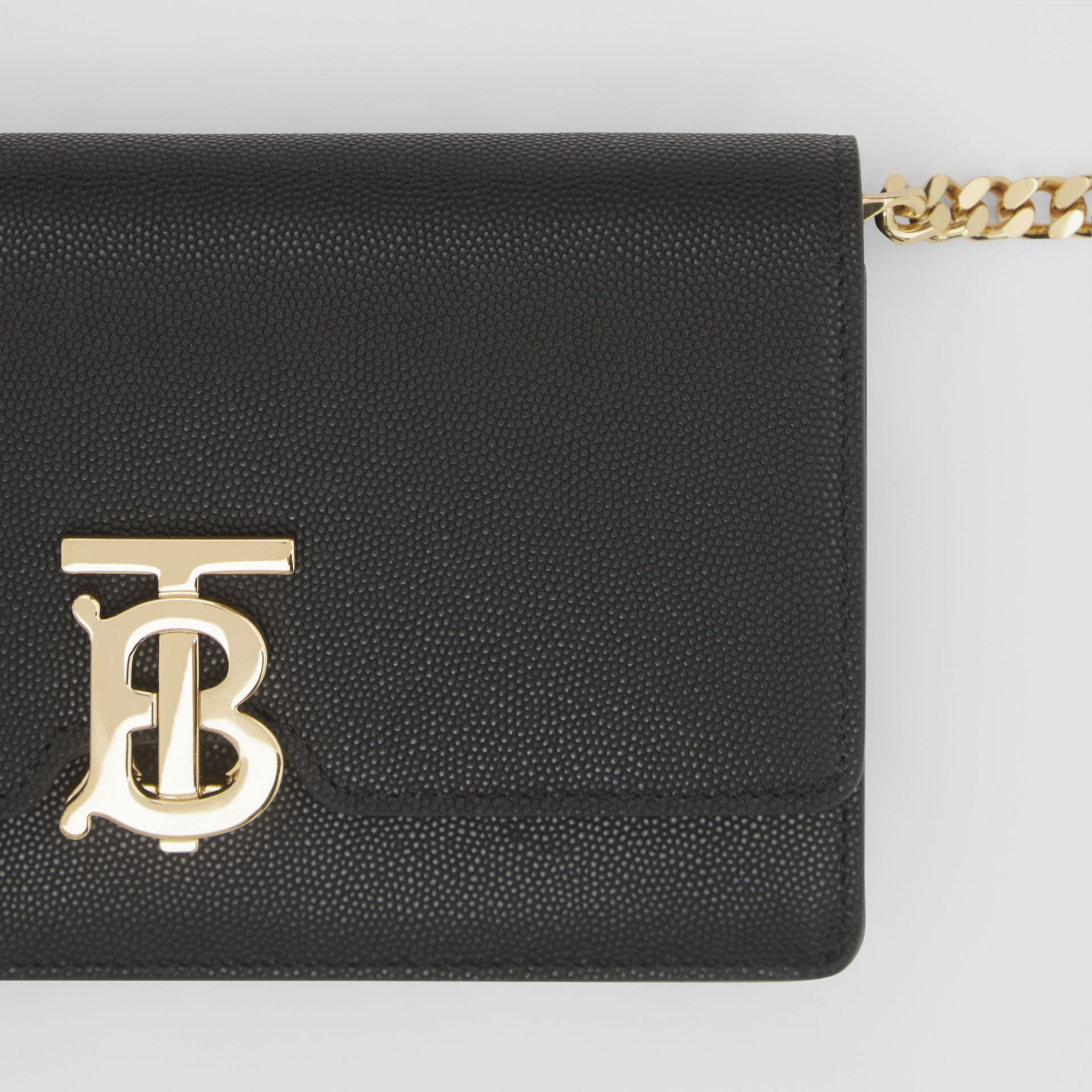 Small Grainy Leather Shoulder Bag in Black - Women | Burberry United Kingdom - gallery image 1