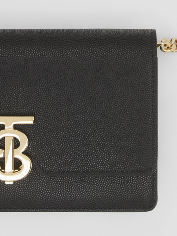 Small Grainy Leather Shoulder Bag in Black - Women | Burberry United Kingdom - cell image 1